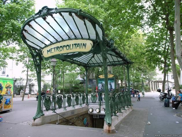 Схема метро в Париже