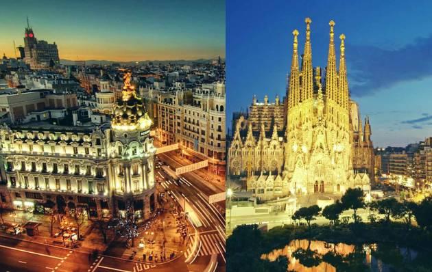 Расстояние от Мадрида до Барселоны