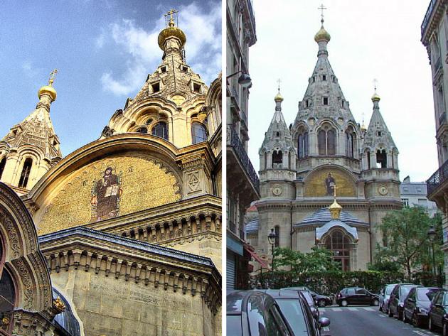 Париж собор Александра Невского